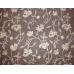 Crewel Fabric Almond Flora Dark Nutmeg Brown Wool