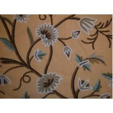 Crewel Fabric Grapes GoldenFerns Cotton