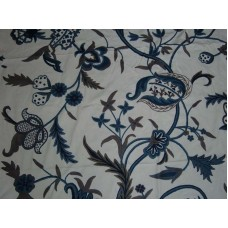 Crewel Fabric Chelsea White Cotton Duck