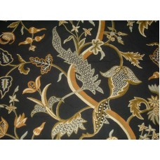 Crewel Fabric Chelsea Black Cotton Duck