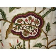 Crewel Fabric Lotus Desert Sand Silk Organza