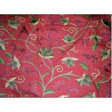 Crewel Fabric Ivy League Terracota Cotton Duck