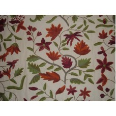 Crewel Fabric Mysore Pink Pine Cotton Duck