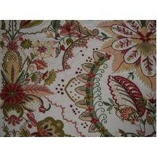 Crewel Fabric Garden of Eden Cream Cotton