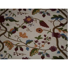 Crewel Fabric Palampore Off White Cotton