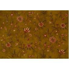 Crewel Fabric Warsi Olive Cotton Velvet
