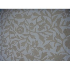 Crewel Fabric Carla White on White Cotton Duck