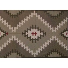 Crewel Rug Tribal Grey Chain Stitched Wool Rug (4x6FT)