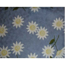 Crewel Rug Sunflower Blissful Blue Chain Stitched Wool Rug (4x6F