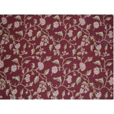 Crewel Rug Wintertime Burgundy Chain Stitched Wool Rug (4x6FT)