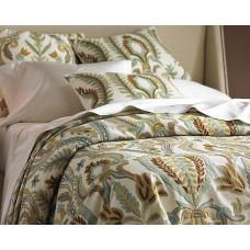 Crewel Pillow Euro Sham Renaissance Villa Multi Cotton Duck (26x
