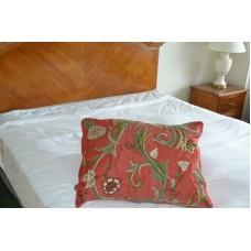 Crewel Pillow Sham Curve East Orange Silk Organza Standard (20x2