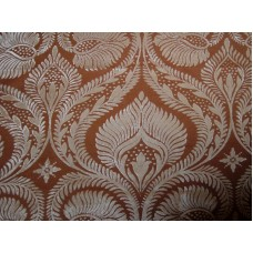 Peacock Silver on Rust Brasso Velvet