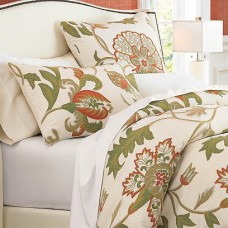 Crewel Pillow Euro Sham Giverny Sweetpine Cotton Duck (26x26)