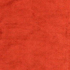 Cotton Viscose Velvet Aster Vermilion