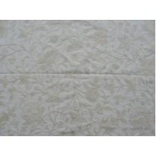 Crewel Fabric Antique Cream on white Dasoot