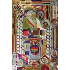 Crewel Rug Bizzare Beauty Multi Chain Stitched Wool Rug