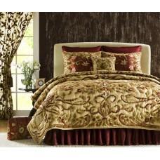 Crewel Bedding Art Nouveau Desert Sand Silk Organza