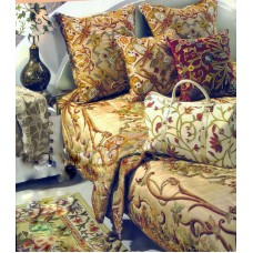 Crewel Bedding Art Nouveau Troy Silk Organza