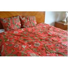 Crewel Bedding Curve East Orange Silk Organza
