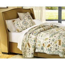 Crewel Bedding Medallion Sweetpine Coverlet Cotton Duck