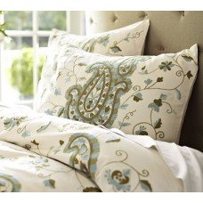 Crewel Bedding Paisley Multi Crewel Embroidered Duvet Cover