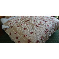 Crewel Bedding Snow Bird Raw Silk Organza Duvet Cover