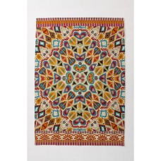 Crewel Rug Flutter Multi Chain-stitched Wool Rug