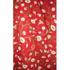 Crewel Drape Grapes Dreams Exotic Red Cotton50x118