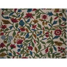 Crewel Fabric Annuals Sweet Pine Cotton Duck