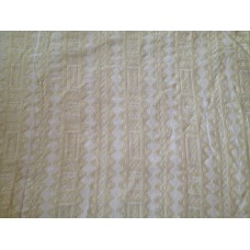 Crewel Fabric Chariot White on Storm Cloud Cotton Duck