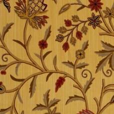 Crewel Fabric Galahad Golden Olive Cotton Duck