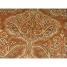 Crewel Fabric Paisley Tapestry Light Brown Cotton Duck