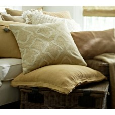 Crewel Pillow Brielle Cream Crewel Embroidered Pillow Cover