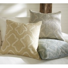Crewel Pillow Brielle Grey Creel Embroidered Pillow Cover