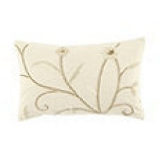Crewel Pillow Belle Vigne Off White Cotton Duck (12x20)