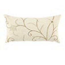 Crewel Pillow Belle Vigne Off White Cotton Duck (15x30)