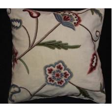 Crewel Pillow Gulposh L Off White Cotton Velvet