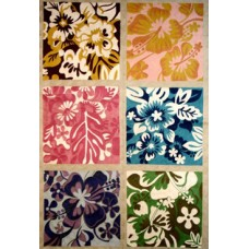 Crewel Rug Collection Florale Multi  Chain Stitched Wool Rug