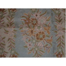 Crewel Rug French Corridor Multi Chain Stitched Wool Rug
