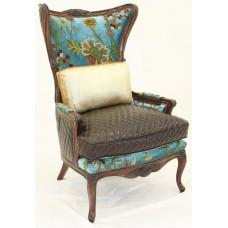 Crewel Shalimar Turquoise Cotton Viscose Velvet Upholstered Mode