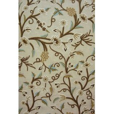 Crewel Fabric Angoor Brown