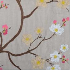 Crewel Fabric Aretha Pink