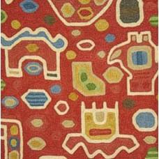 Crewel Fabric Aztec Multi