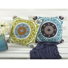 Crewel Pillow Barsha Cotton Duck