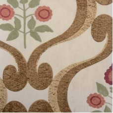Crewel Fabric Carole Red/Clay