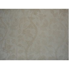 Crewel Fabric Grapevine White on White Cotton Duck