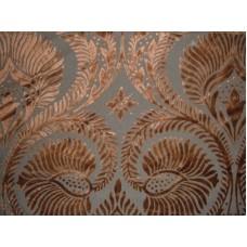 Peacock Rust on Brown Brasso Velvet