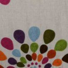 Crewel Fabric Cyndi Papaya Sage